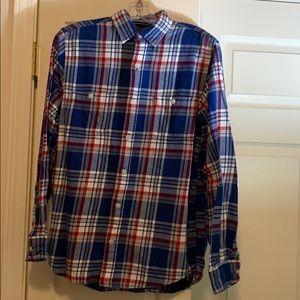 Old Navy Vintage Men's Flannel Button Down Shirt